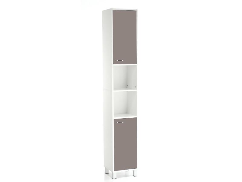 Colonne de salle de bain high glossy taupe conforama - Meuble colonne salle de bain conforama ...