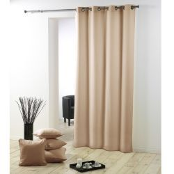 rideau voilage store marron conforama. Black Bedroom Furniture Sets. Home Design Ideas