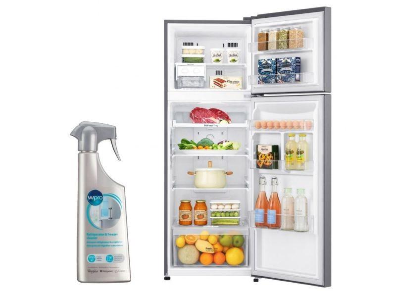 Réfrigérateur frigo double porte inox 312l froid ventilé no frost