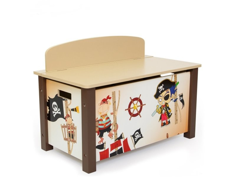 coffre jouets en bois meuble chambre enfant motif pirate 66x50x39cm ape06001 vente de coffre. Black Bedroom Furniture Sets. Home Design Ideas