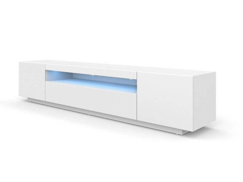 Subleem meuble tv 200 cm space avec led blanc