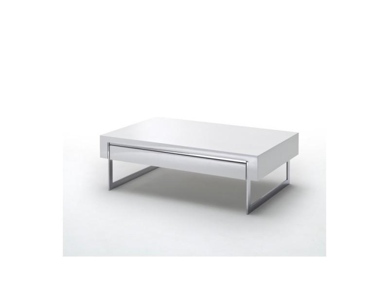 Table basse dipsy blanc laqué TENDENCIO