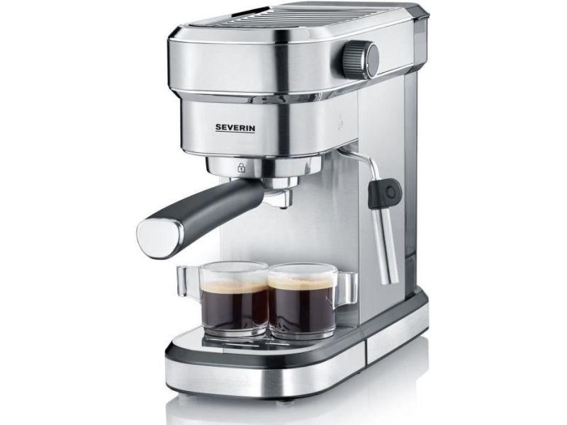 Severin 5994 cafetiere expresso espresa - 1350w - 15 bars - 1,1l - chauffe rapide 40 sec. Inox brosse/noir SEV4008146033377