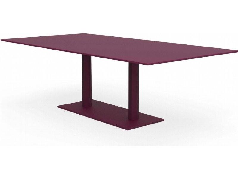 Tables rectangulaires hexagone violet prune Ta_HEX_Rect240x120_h75_Pru