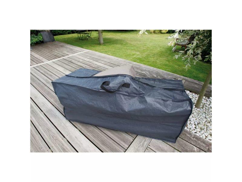 Icaverne - housses pour meubles d'extérieur ensemble housse pour coussin nature 57 x 128 x 37 cm pe gris foncé 6030609