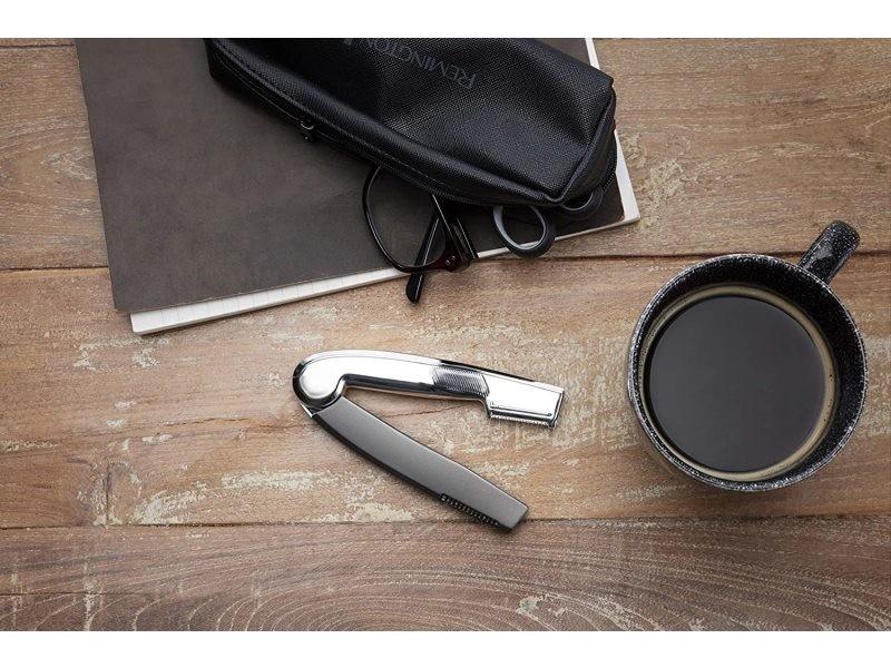 Tondeuse de précision compact et pliable gris noir