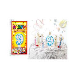 Bougies chiffres anniversaire - bougies chiffres anniversaire 9 - bougies chiffres anniversaire 9
