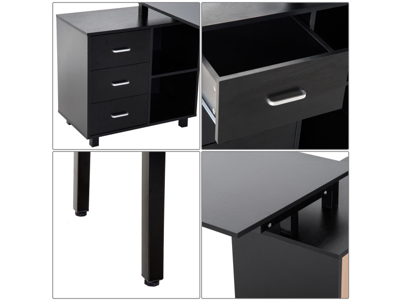 bureau d 39 angle bureau informatique table ordinateur avec. Black Bedroom Furniture Sets. Home Design Ideas