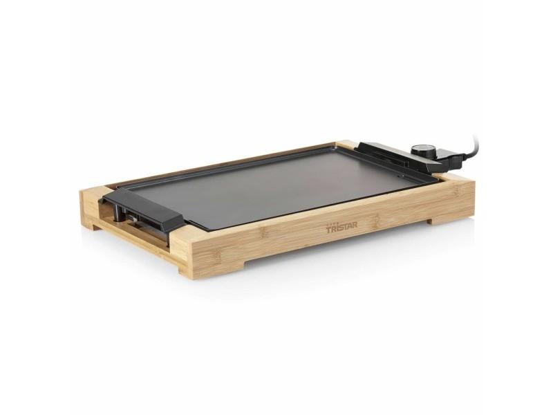 Superbe électroménager de cuisine selection tarawa-sud tristar plancha électrique 2000 w 37x25 cm bambou