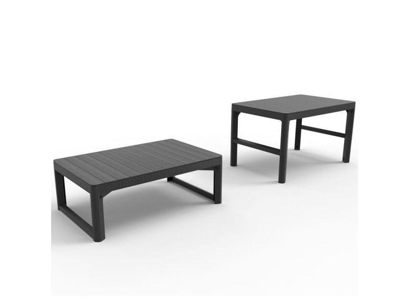 Allibert table de jardin lyon graphite 232300 420014 - Vente de ...