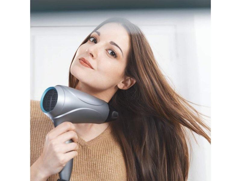 Sèche cheveux ionique compact 2400w noir gris