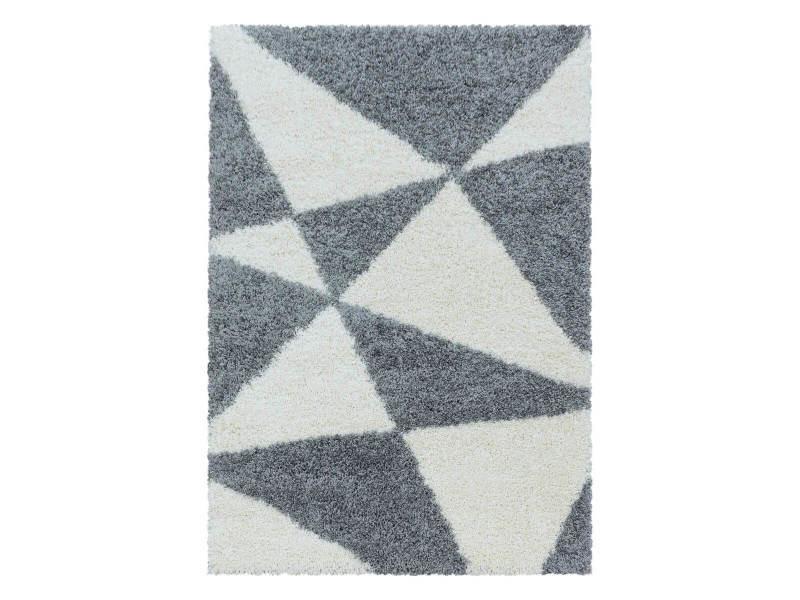 Bobochic tapis shaggy sidi gris 160x230