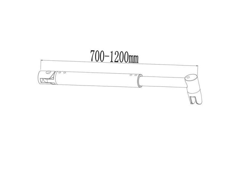 AICA paroi de douche 90x200cm douche /à litalienne en 10mm verre anticalcaire et securit avec une barre de fixation extensible