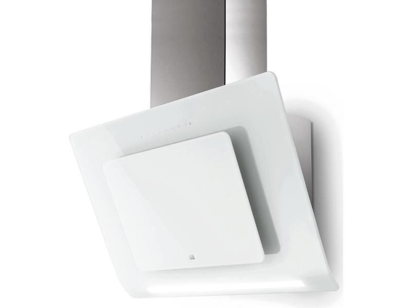 Hotte décorative inclinée 80cm 590m3/h blanc - 5038011 5038011