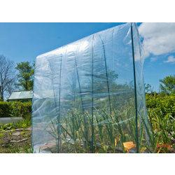 Tuteur en acier plastifié vert pour serre tunnel à tomates