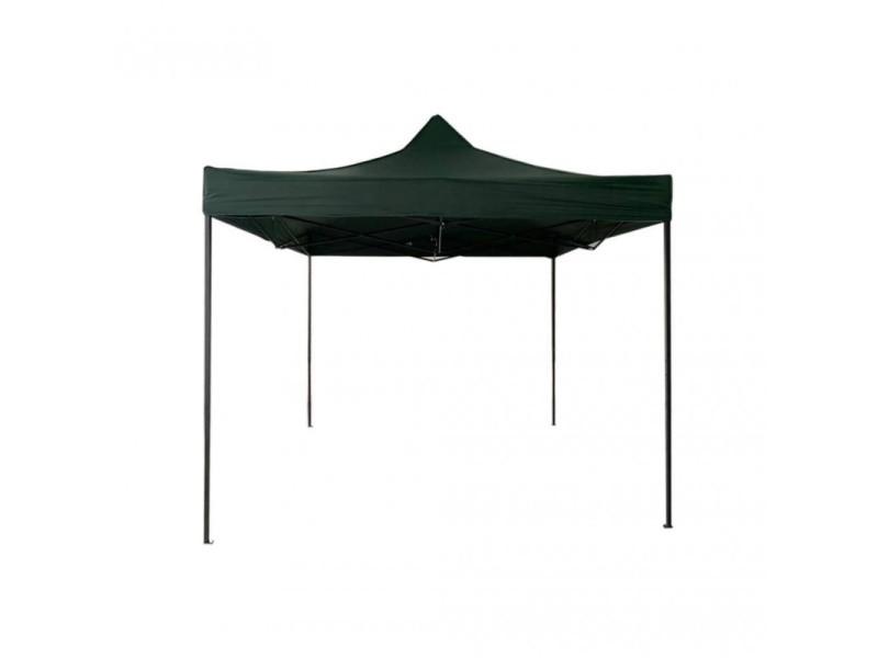 Mobili rebecca gazebo pavillon pliant vert métal polyester jardin terrasse 3x3