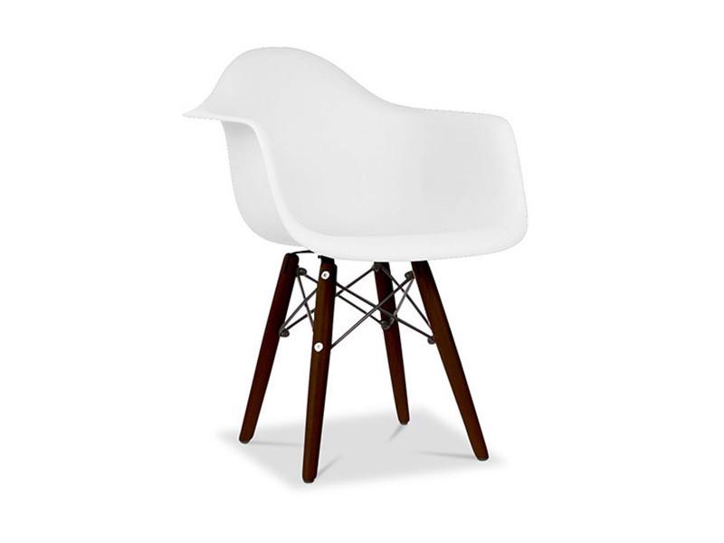 Chaise enfant daw pieds foncés charles eames - style blanc