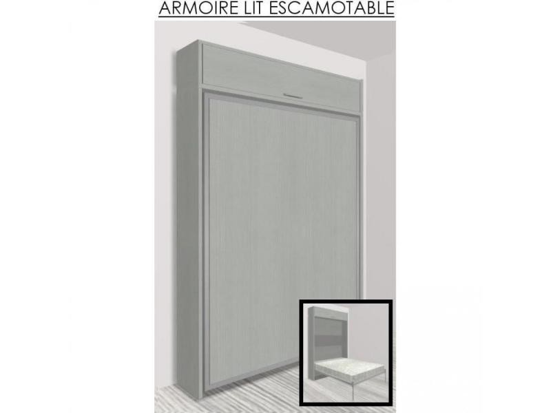 Stunning cool armoire lit escamotable eos chne gris for Conforama placard chambre