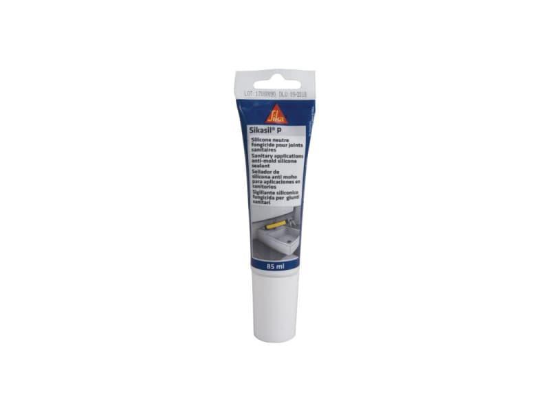 Mastic silicone universel pour joint d'étanchéité - sika sikasil-p marine - transparent - 85ml 410844