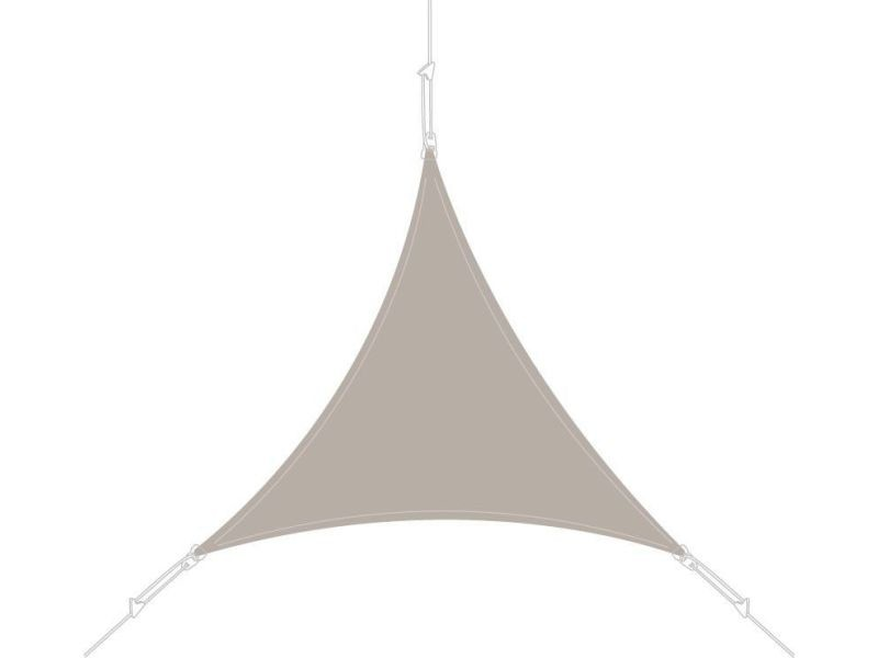 Voile d'ombrage triangle 5x5x5m