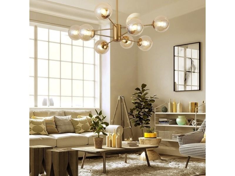 Lampe Suspendue Luminaire Salon Moderne En Cuivre Pur Simple
