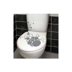 Sticker bulles pour wc