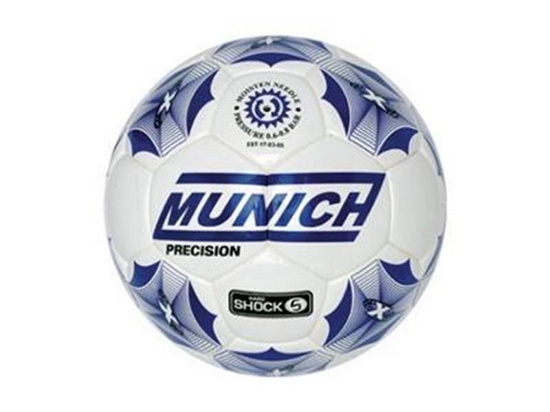 Ballon de foot blanc et bleu - taille 3 et resistant