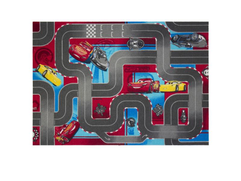 Tapis circuit cars bleu et rouge disney - Vente de Tapis enfant ...