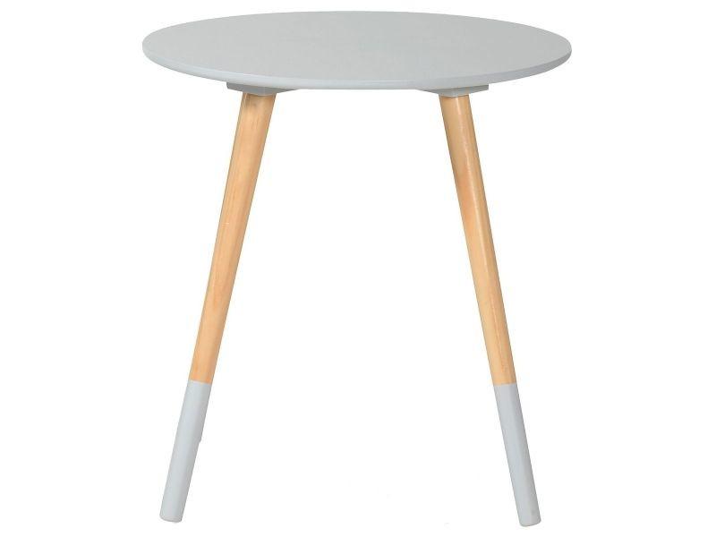 Bjarni table basse ronde grise vente de altobuy conforama - Table grise conforama ...