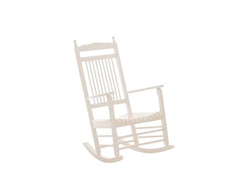 rocking chair fauteuil bascule en bois blanc fab10002. Black Bedroom Furniture Sets. Home Design Ideas