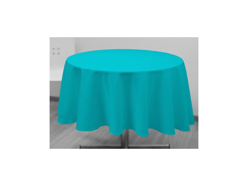 Nappe ronde anti-tâches alix - d 180 cm - bleu clair