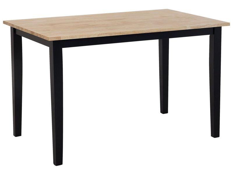 Table marron clair/noire 120 x 75 cm houston 146854