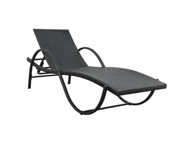 Vidaxl chaise longue avec table résine tissée noir 42886 - Vente de VIDAXL  - Conforama 7d56524fe8e5
