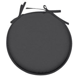 Galette de chaise ronde 100% polyester nelson anthracite