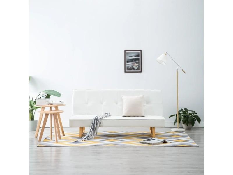 Vidaxl canapé-lit similicuir blanc 247027