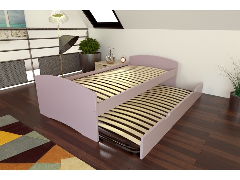 Lit Gigogne Happy Pin Massif 90x190 Violet Pastel Top90hap Vip Vente De Abc Meubles Conforama