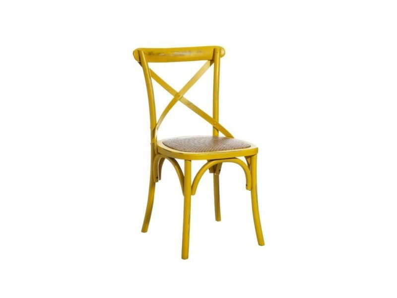 Lot de 2 chaises en bois bleu jaune valentine - l 46 x l 42 x h 87