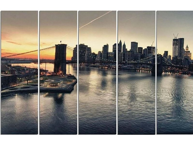 Tableau Le Pont De Brooklyn A New York Can 5 Tyk C M 30155 100x70 Vente De Recollection Conforama