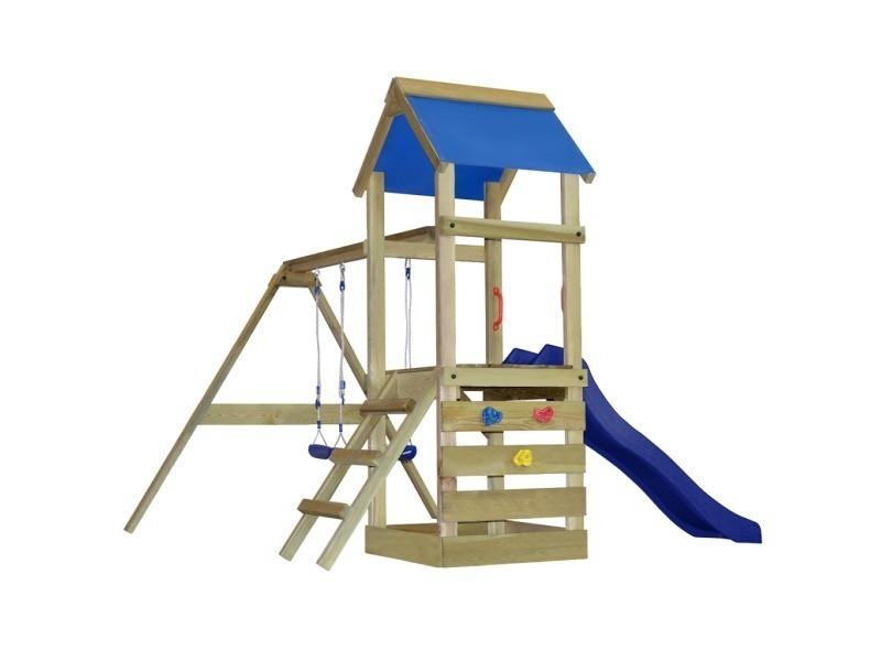 Balancoire aire de jeux cool fatmoose aire de jeux rebelracer portique de jeux en bois cabane - Aire de jeux en bois leroy merlin ...