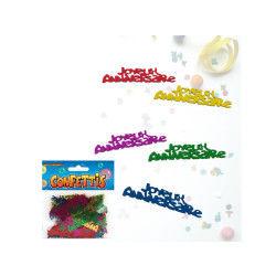 Sachet de confettis joyeux anniversaire