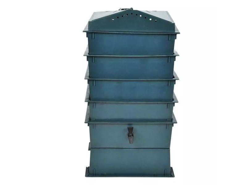 Icaverne - accessoires de jardinage famille lombricomposteur 4 plateaux 42 x 42 x 60 cm