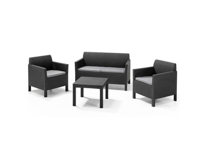 Allibert mobilier de jardin 4 pcs orlando graphite 226515 408941 ...