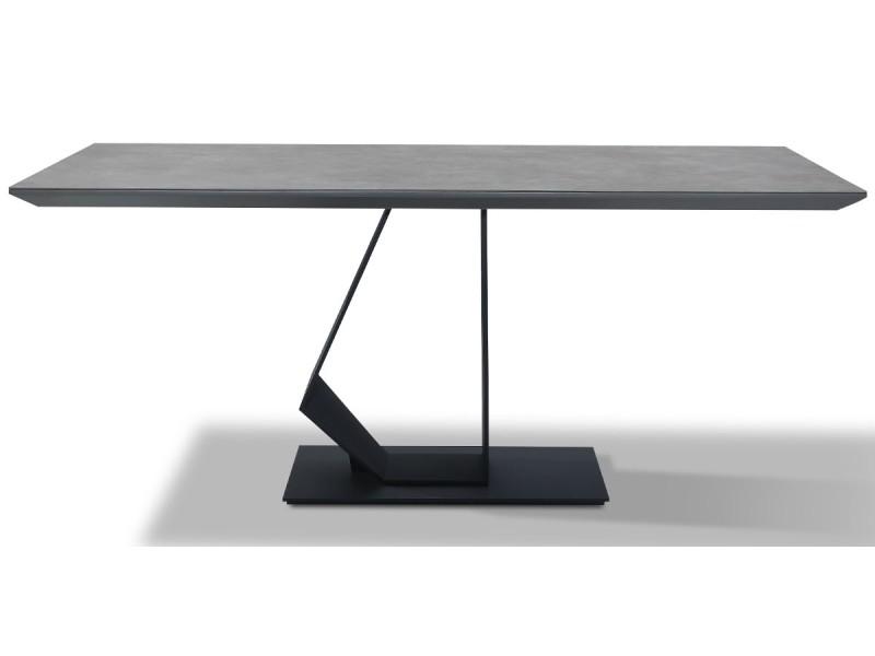 Table à manger yuka - gris - gris