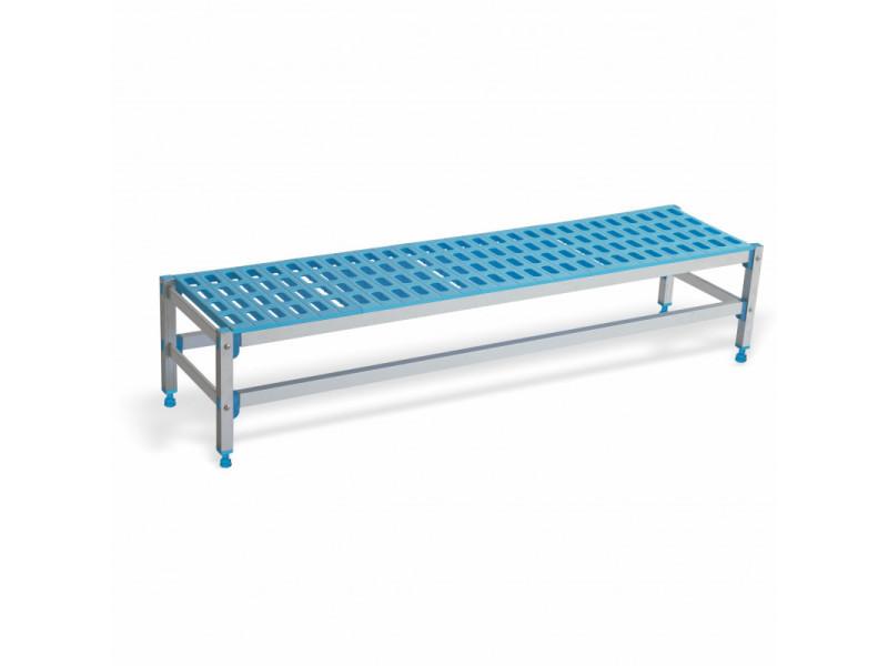 Banc en aluminium et polypropylène profondeur 555 mm - l 715 à 1480 mm - pujadas - 1375 mm