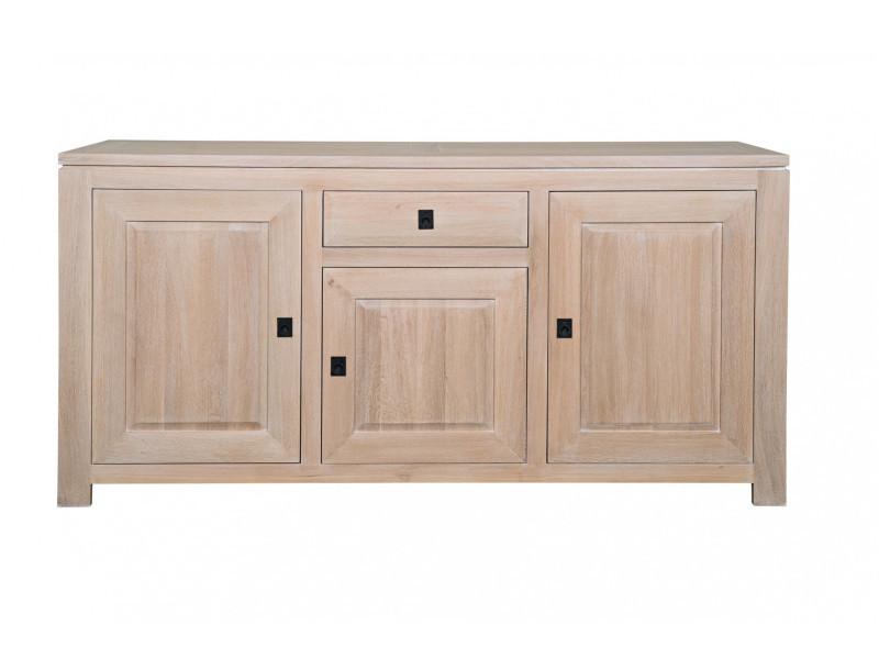 buffet en ch ne blanchi boston vente de hellin conforama. Black Bedroom Furniture Sets. Home Design Ideas