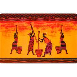 Set de table 28 x 44 cm transparent mandao rouge orange
