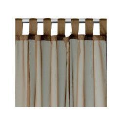 Rideau voile à pattes polyester taupe 140 x 240 les ateliers du linge