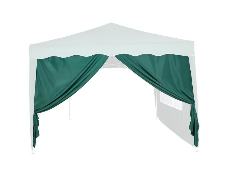 Instent® panneau latéral avec fermeture à glissière, sans fenêtre, coloris au choix - couleur : vert