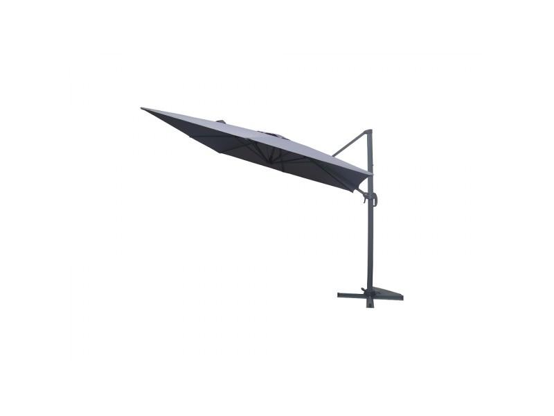 Laredo gris: parasol déporté, carré de 3x3m , rotatif à 360° 26847