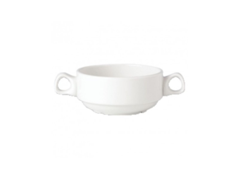 Bols à soupe 285ml avec anses empilables steelite simplicity white - lot de 36 - 0 cm porcelaine 28,5 cl